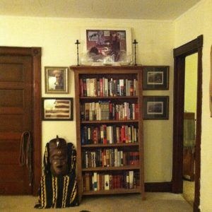 Book corner of the living room.